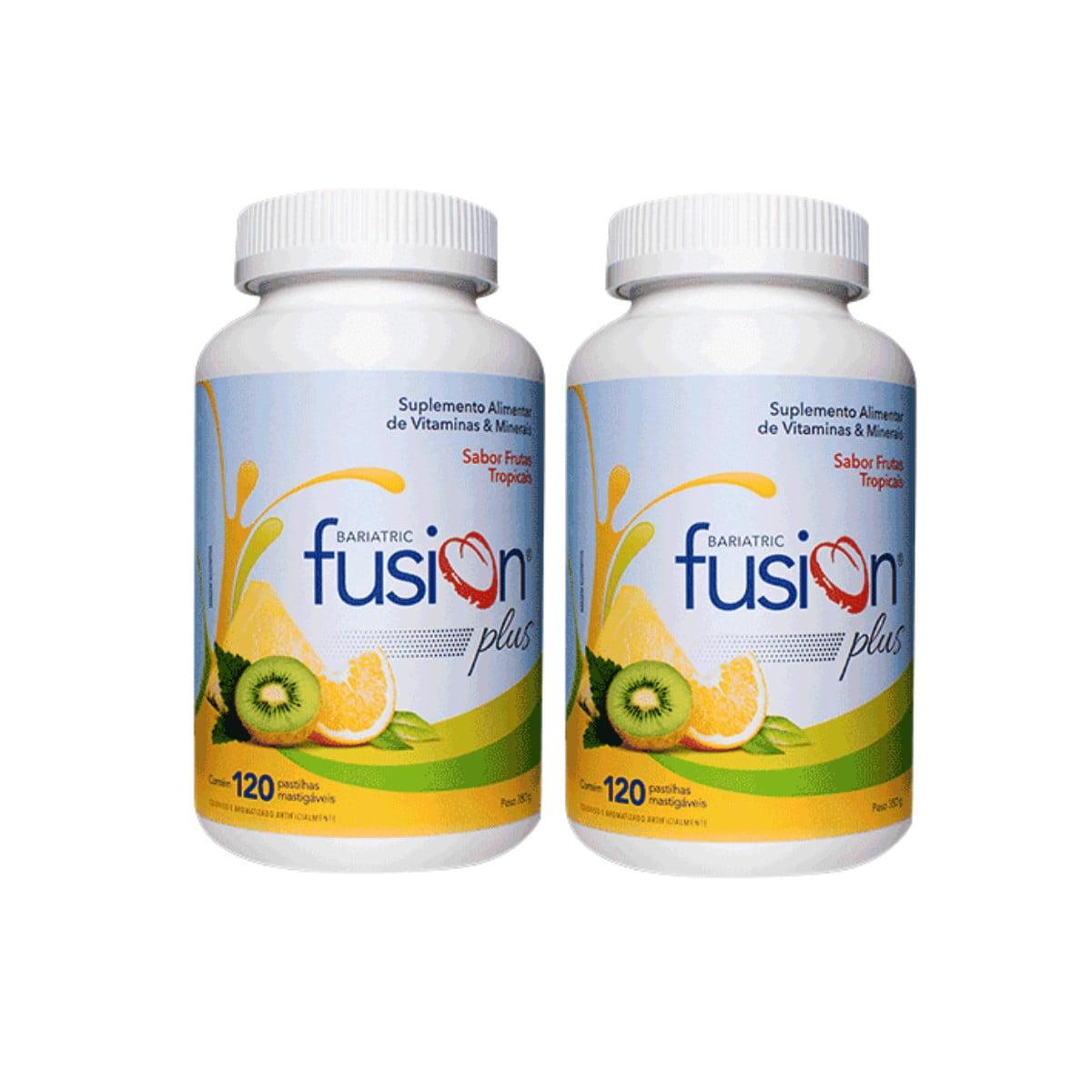 Kit c/2 Bariatric Fusion Plus 120 Pastilhas Mastigáveis - Sabor Frutas Tropicais