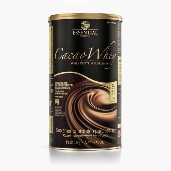 Cacao Whey Lata 900g - Essential Nutrition