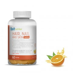 Belt Hair Gummy Laranja Sem Açúcar 240g - Belt Nutrition