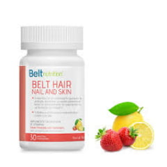Belt Hair Nail and Skin Limonada com Morango 30 Pastilhas Mastigáveis