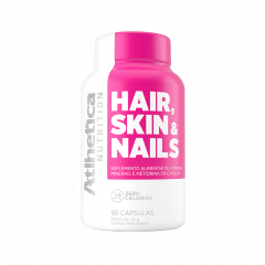 Hair, Skin e Nails 60 Cápsulas - Athlética Nutrition